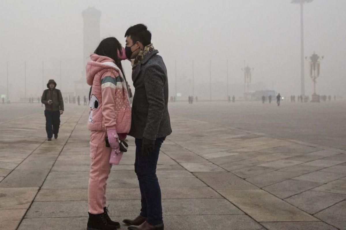 La concentración de partículas PM2.5 (las más peligrosas por su capacidad de infiltrarse a los pulmones) llegaban a los 334 microgramos por metro cúbico de aire Foto:Getty Images. Imagen Por: