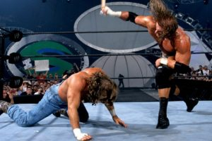 Shawn Michaels vs Triple H, en Summerslam 2002 Foto: WWE. Imagen Por: