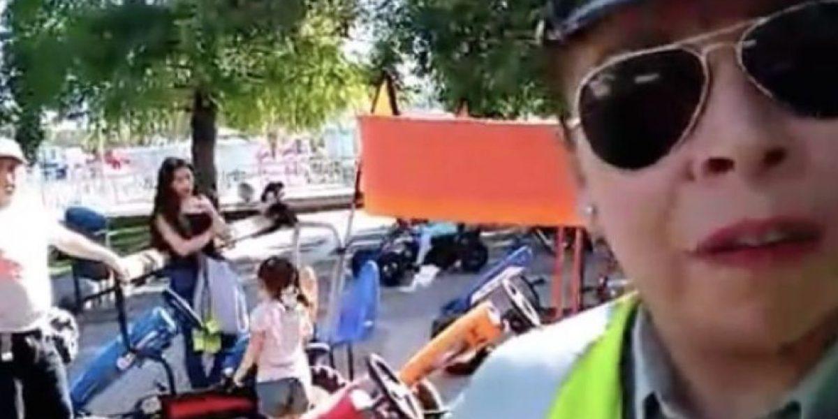 Mujer que arrendó carrito en la plaza de Maipú revivió el polémico