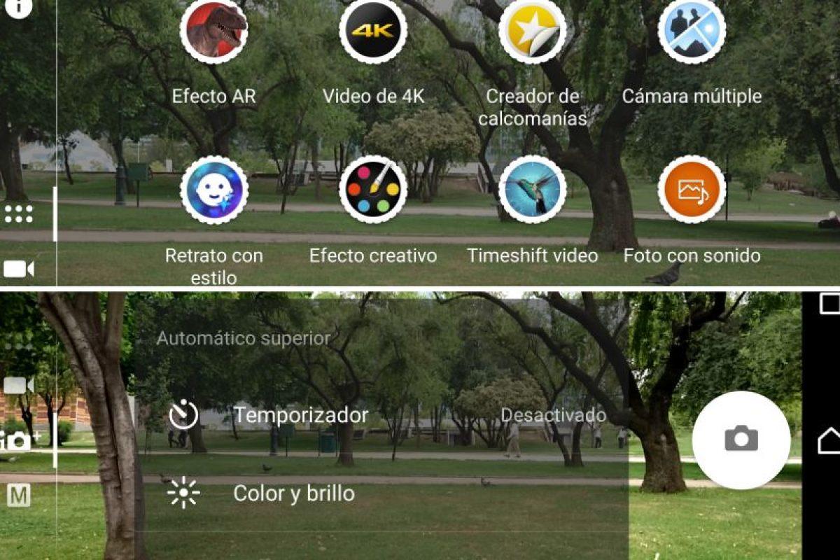 El menú del Z5 para las imágenes y videos. Foto:Publimetro / Víctor Jaque. Imagen Por: