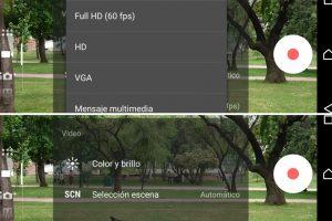 Las opciones por defecto para grabar videos. Foto:Publimetro / Víctor Jaque. Imagen Por:
