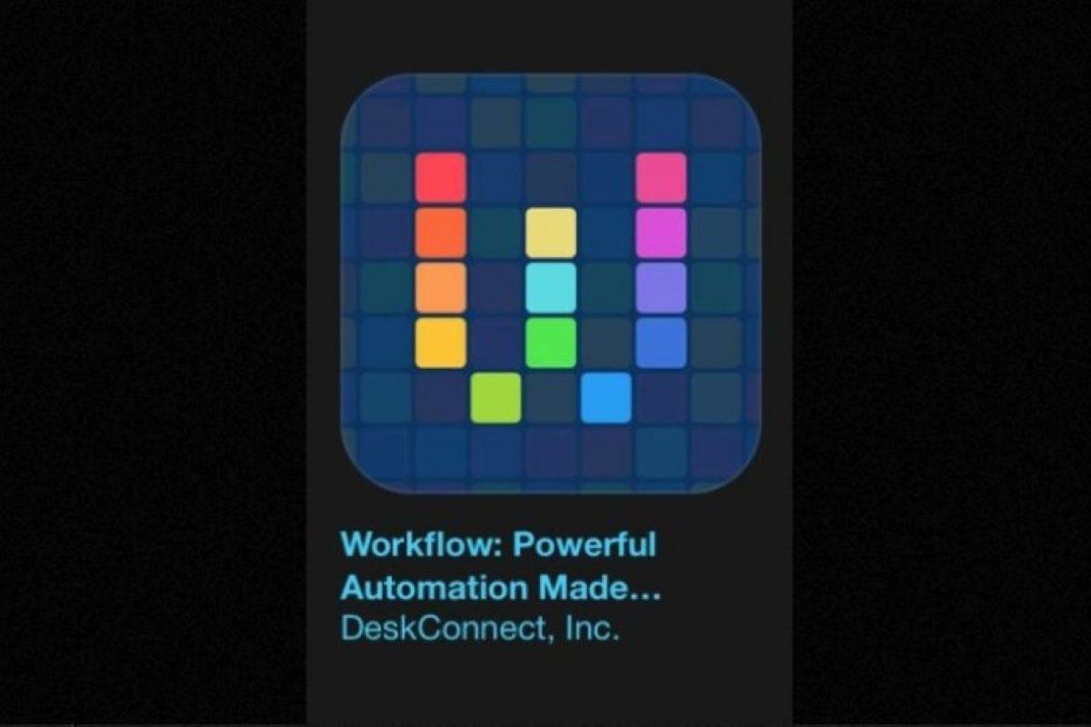 """6- """"Workflow: Powerful Automation Made Simple"""". Cuesta tres dólares y es su herramienta de automatización de personal, lo que le permite arrastrar y soltar cualquier combinación de acciones para crear flujos de trabajo de gran alcance. Foto:Apple. Imagen Por:"""