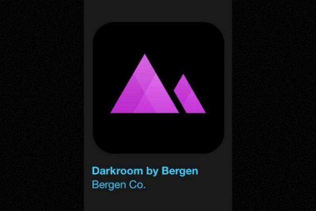 """7- """"Darkroom by Bergen"""". Es gratuita y permite captar el estilo perfecto para sus fotos de una forma rápida y sencilla. Foto:Apple. Imagen Por:"""