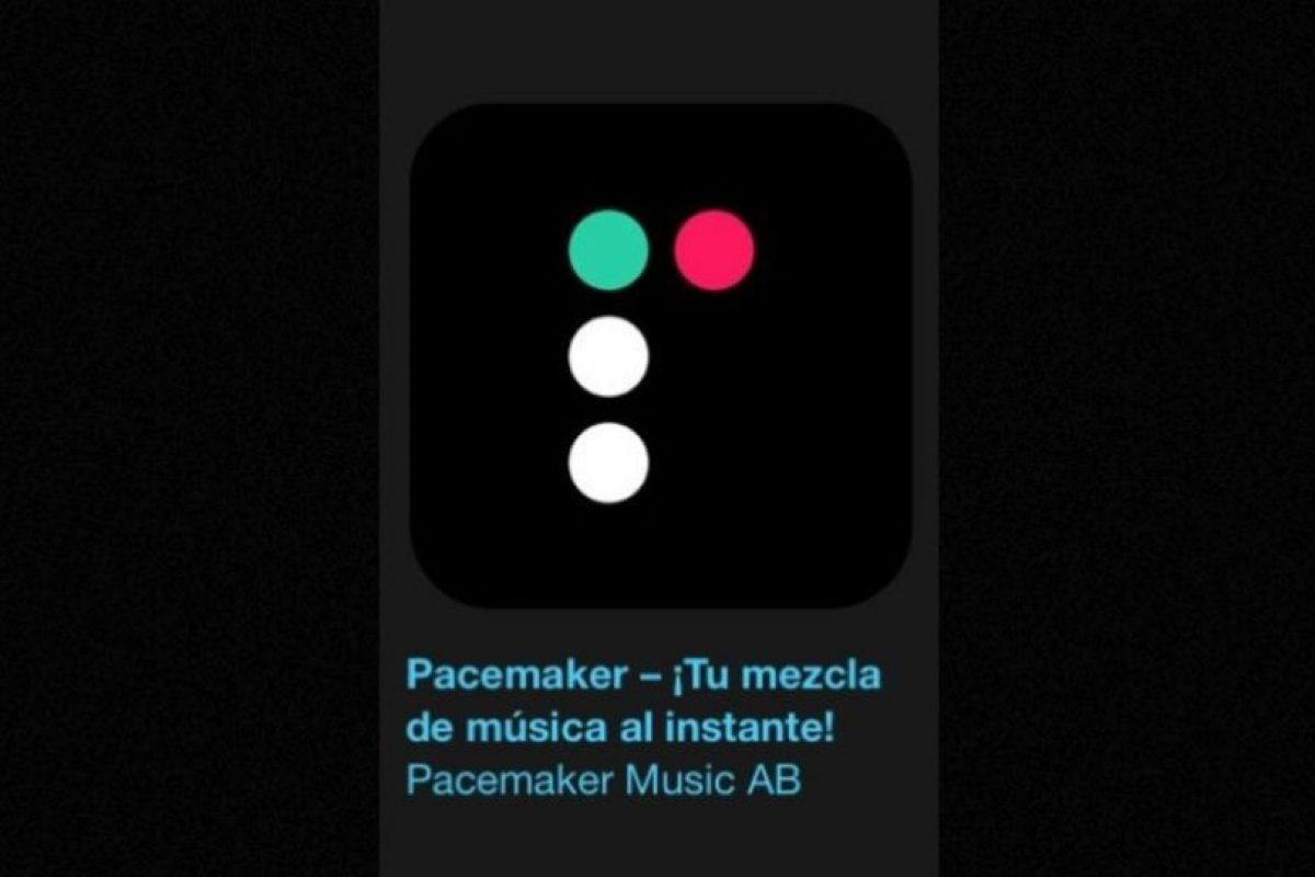 """11- """"Pacemaker – ¡Tu mezcla de música al instante!"""". Es gratuita y elimina el esfuerzo de mezclar música añadiendo un toque de magia. Solo tienen que seleccionar su música desde iTunes o Spotify, pulsar reproducir y a divertirse. Foto:Apple. Imagen Por:"""