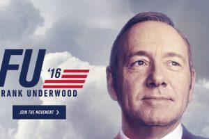 """El sitio oficial de """"Frank Underwood"""" es fu2016.com Foto:vía fu2016.com. Imagen Por:"""