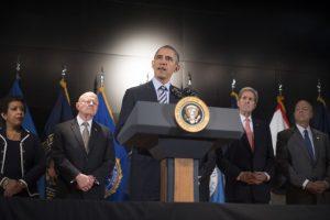 El presidente estadounidense Barack Obama pidió a su país estar unido contra la guerra contra el terrorismo. Foto:AFP. Imagen Por: