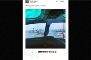 """""""De regreso en helicóptero"""" Foto:Twitter.com – Archivo. Imagen Por:"""