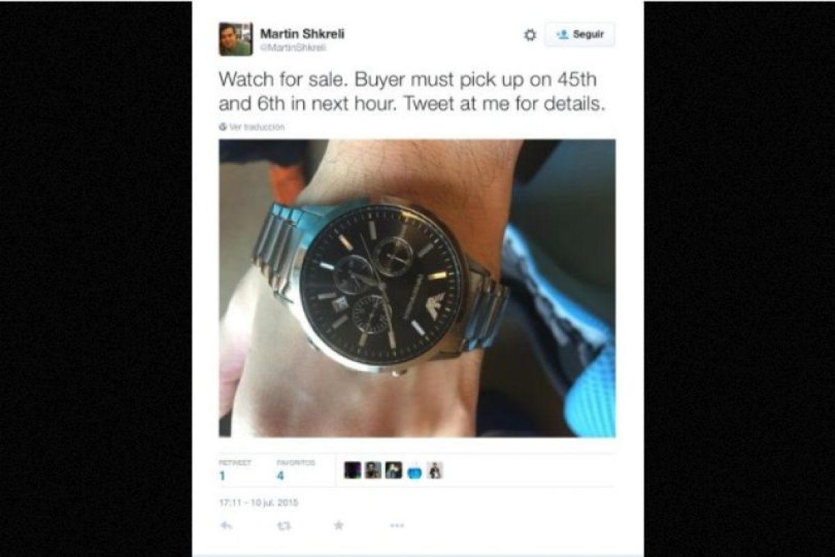 """Se vende reloj"" Foto:Twitter.com – Archivo. Imagen Por:"