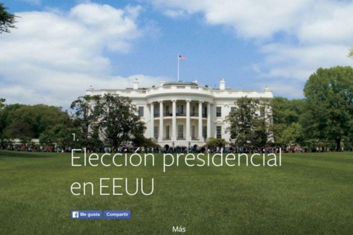 1- Elección presidencial en Estados Unidos. Foto:vía facebook.com. Imagen Por: