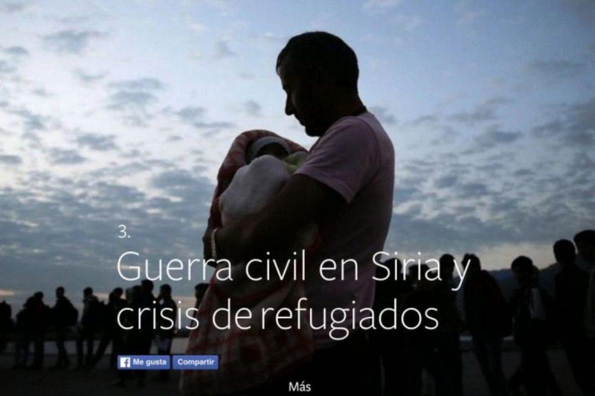 3- Guerra civil en Siria y crisis de refugiados. Foto:vía facebook.com. Imagen Por: