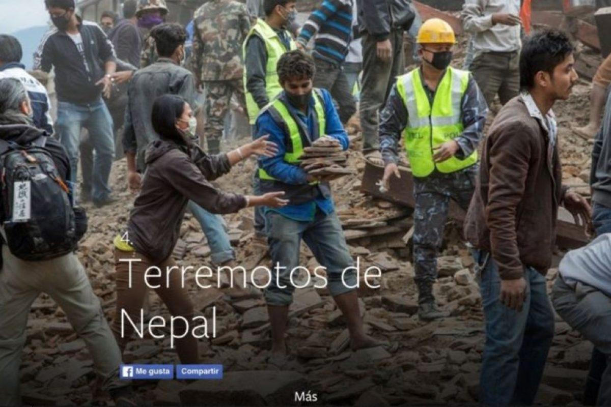 4- Terremotos de Nepal. Foto:vía facebook.com. Imagen Por: