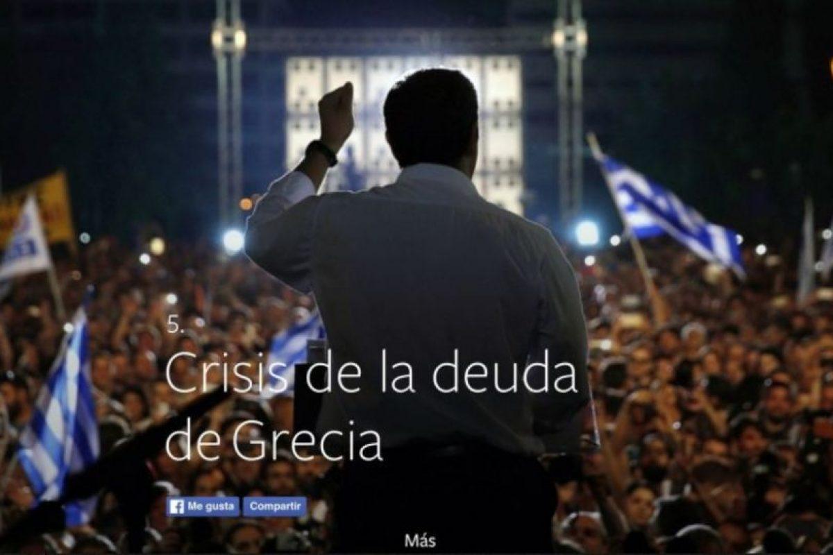 5- Crisis de la deuda de Grecia. Foto:vía facebook.com. Imagen Por: