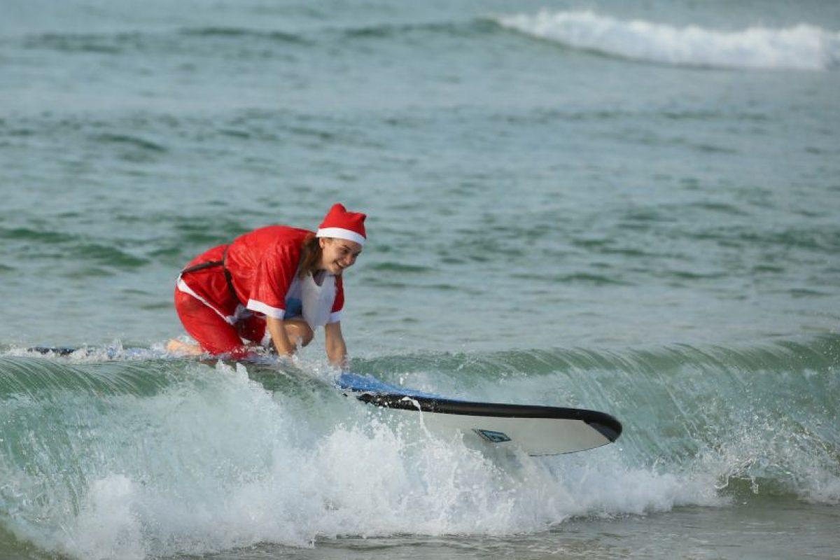 Todos los alumnos tuvieron que vestirse como Santa. Foto:Getty Images. Imagen Por: