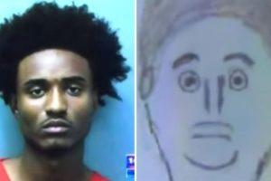 Este fue el dibujo del testigo. A continuación podrán conocer más retratos hablados que no se parecen tanto a los criminales. Foto:Vía Youtube. Imagen Por: