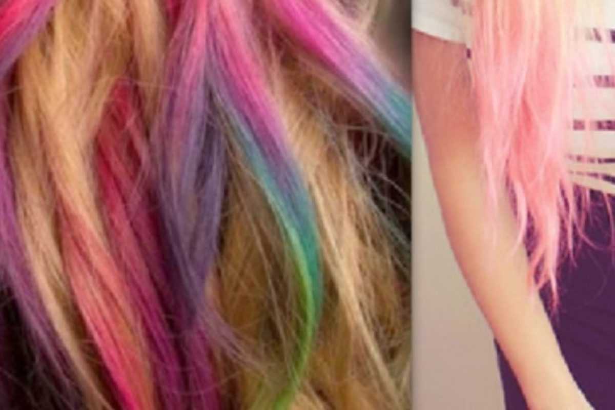Esta joven de 17 años decidió pintarse el cabello de diversos colores, sin embargo, poco tiempo después comenzó a presentar síntomas muy extraños. Foto:Pinterest. Imagen Por: