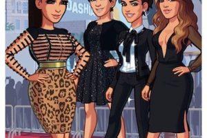 Los looks del clan Kardashian-Jenner en la app de Kim Kardashian Hollywood Foto:Instagram.com/KimKardashian. Imagen Por:
