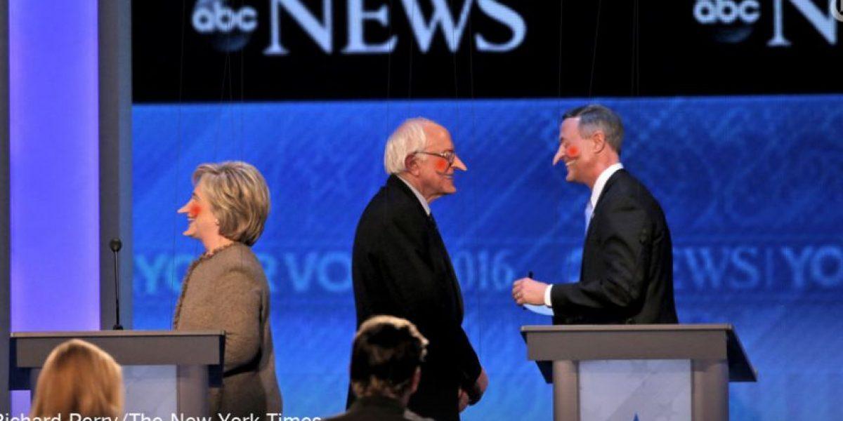 Hillary Clinton fue el blanco de los memes del tercer debate presidencial demócrata
