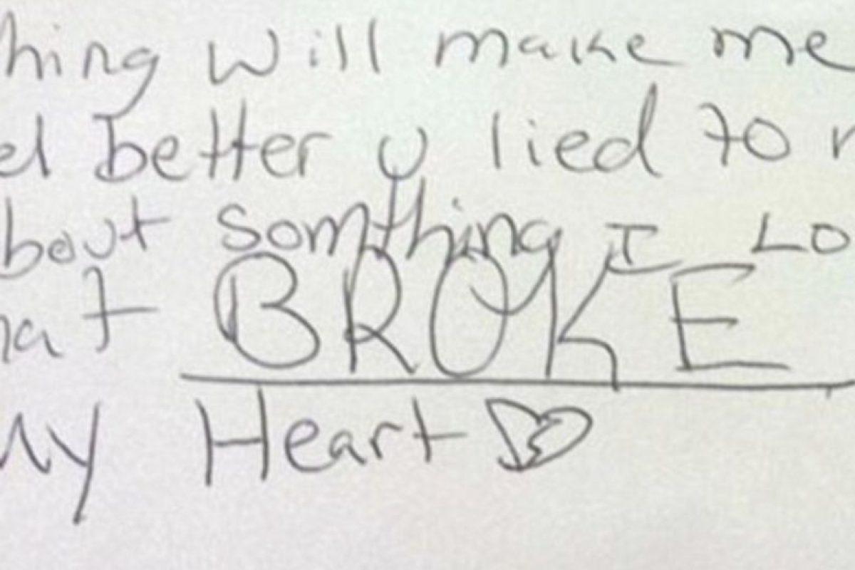 """2. """"Nada me hará sentir mejor, ustedes me mintieron acerca de algo que yo amaba. Eso rompió mi corazón"""". Foto:Vía Facebook/nicki.adamsmorton. Imagen Por:"""