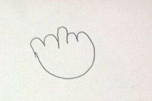 3. Esta fue la tercera nota, con el dibujo del dedo de en medio. Foto:Vía Facebook/nicki.adamsmorton. Imagen Por: