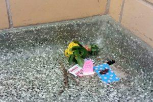 Esto sucedió el 4 de diciembre. Comenzaron a llevarle flores. Foto:Vía Imgur. Imagen Por: