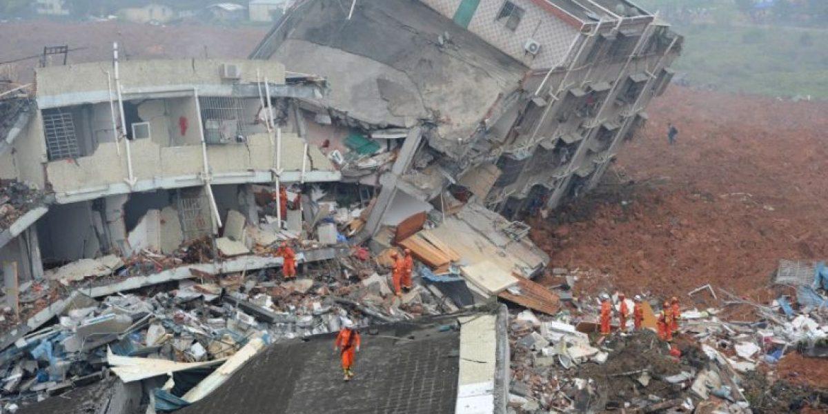 Al menos 91 desaparecidos tras un corrimiento de tierra en China