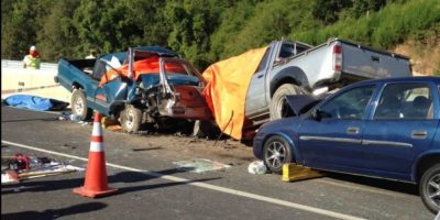 Cinco fallecidos en accidente múltiple en ruta Cabrero - Concepción