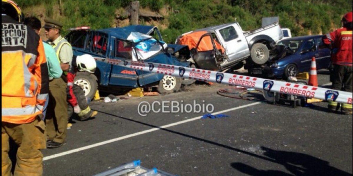 Aumentan a 6 las víctimas fatales del choque entre Concepción - Cabrero