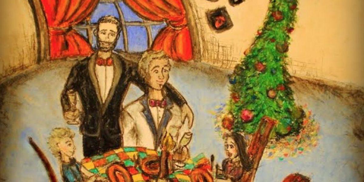 Movilh lanzó postales navideñas con familias homoparentales