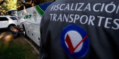 Más de 6 mil fiscalizaciones a buses interurbanos por fiestas de fin de año