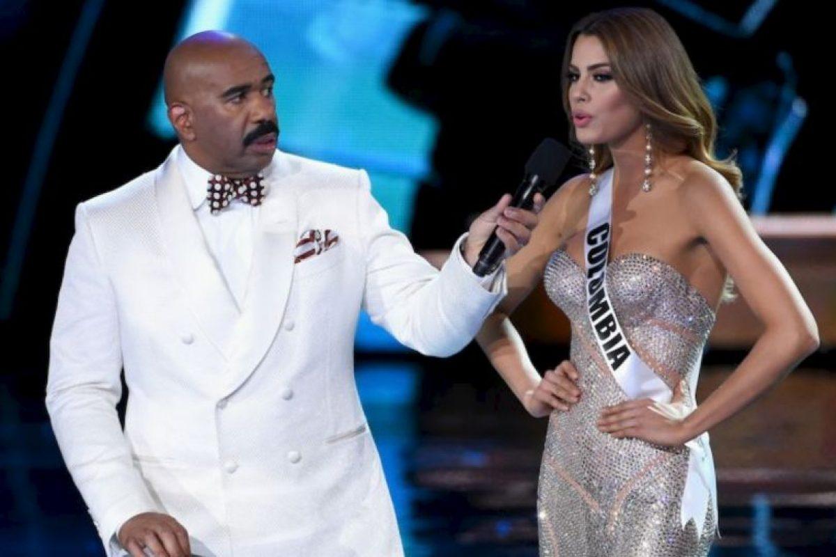 Disculpó a Steve Harvey, quién coronó por error a Miss Colombia. Foto:Getty Images. Imagen Por: