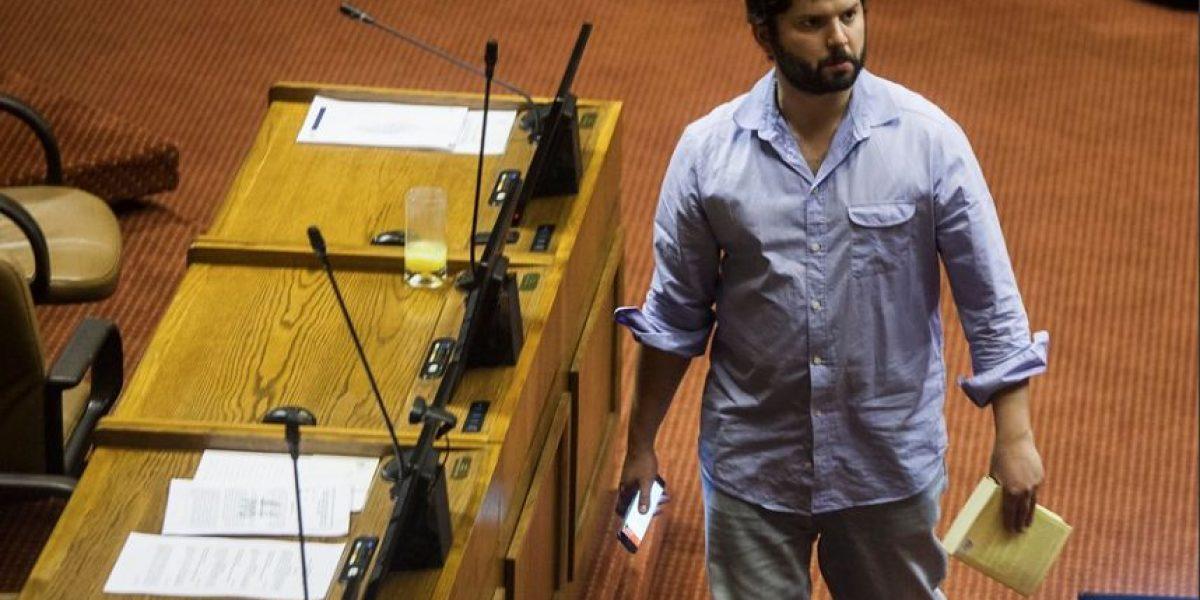 """Gabriel Boric: """"Voy a votar en contra de la ley corta"""""""