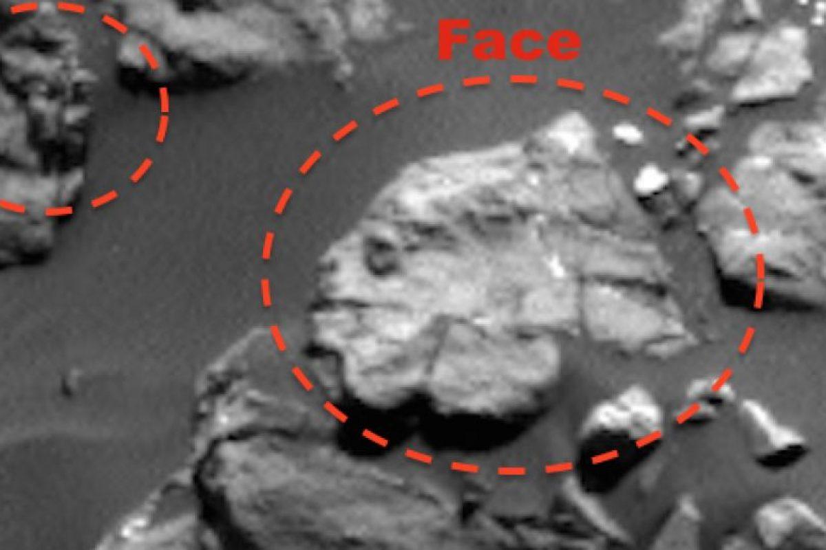 """Este es el supuesto """"rostro humano"""" encontrado en Marte Foto:NASA. Imagen Por:"""