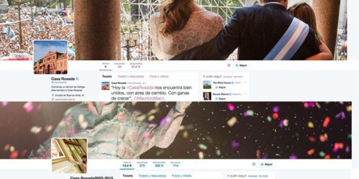 Macri estrena nuevo Twitter oficial porque Kirchner conservó el anterior