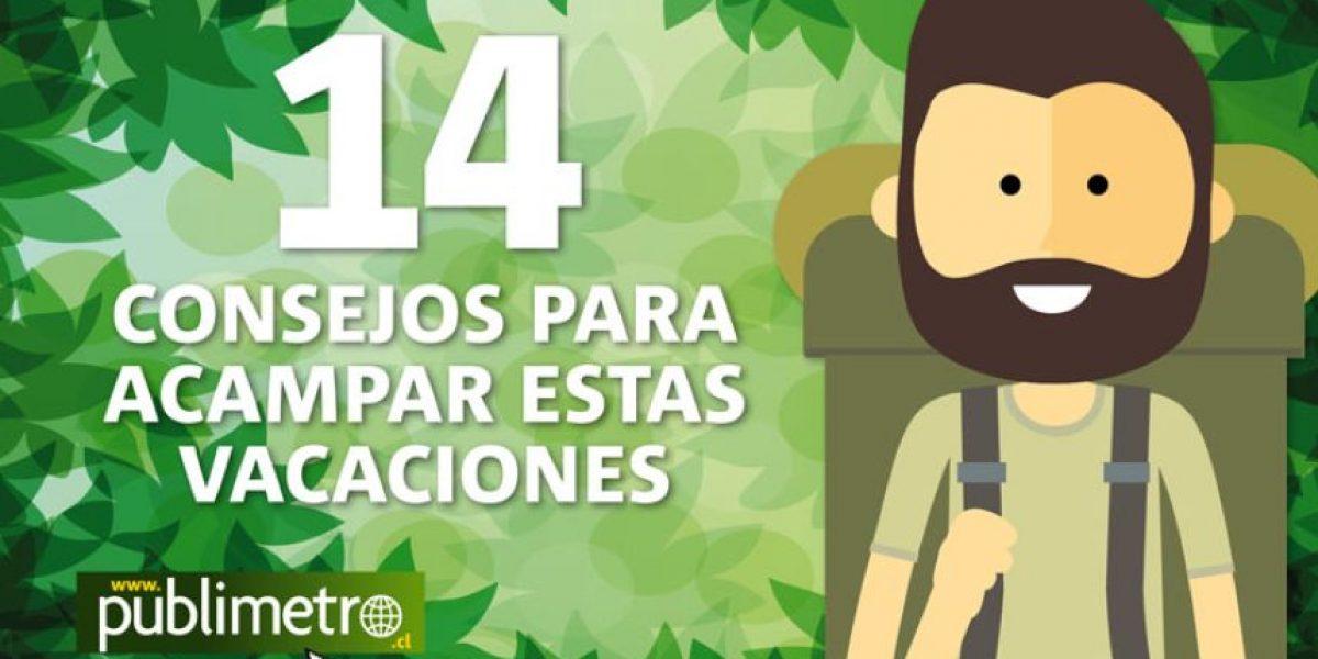 Infografía: 14 consejos para acampar estas vacaciones