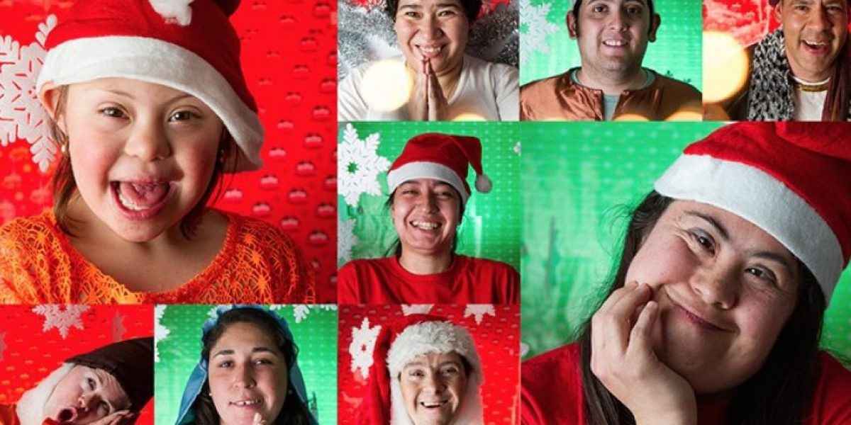 Niños se tomaron la Navidad con particular intervención fotográfica