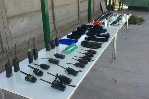 Parte de los equipos usados por los sujetos para cometer los ilícitos. Foto:Gentileza. Imagen Por: