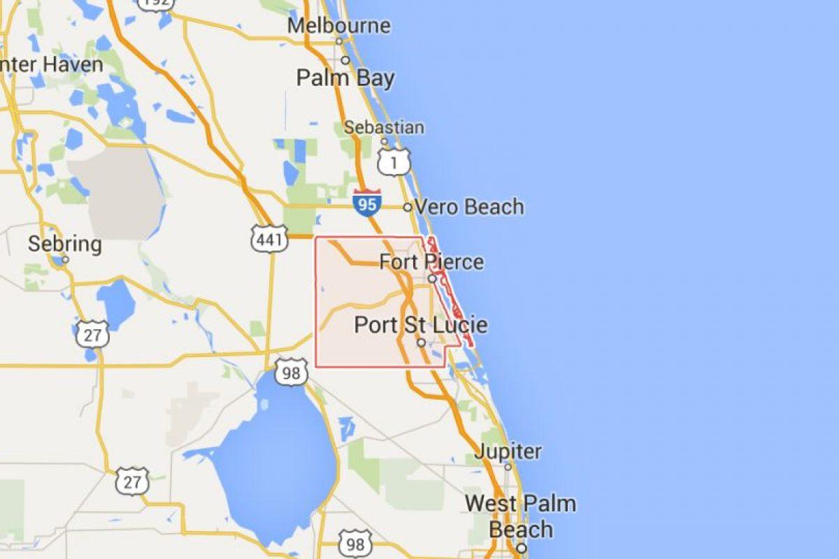 El hecho ocurrió en el condado St. Lucie, al sureste de Florida. Foto:Google Maps. Imagen Por:
