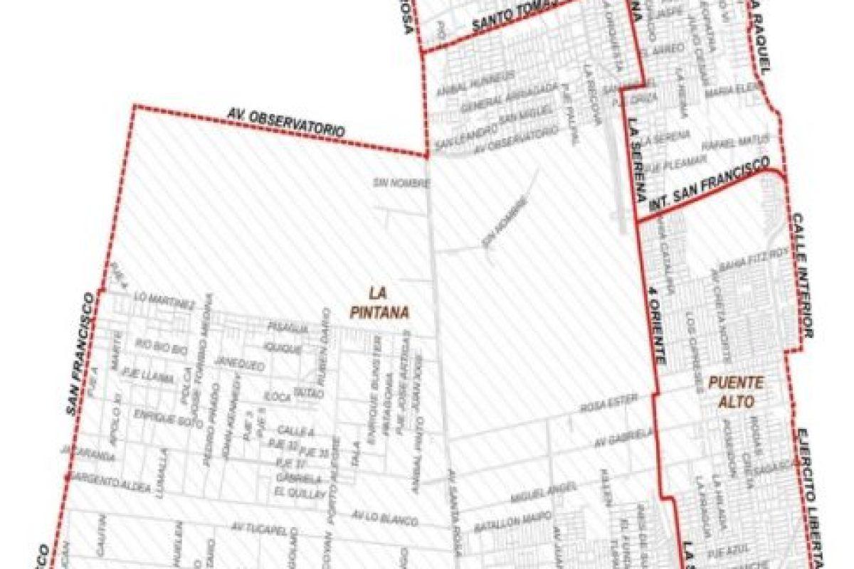 Mapa con los sectores afectados por el corte. Foto:Reproducción / Aguas Andinas. Imagen Por: