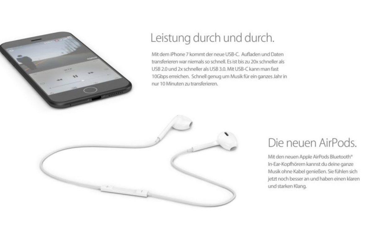 iPhone 7 no tendría entrada para auriculares. Foto:vía handy-abovergleich.ch. Imagen Por: