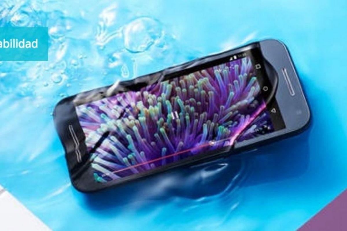 Resistencia al agua con la certificación IP7. Foto:Motorola. Imagen Por: