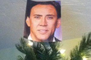 La estrella en la cima del árbol nunca debe faltar… Nicolas Cage es toda una estrella Foto:Know Your Meme. Imagen Por: