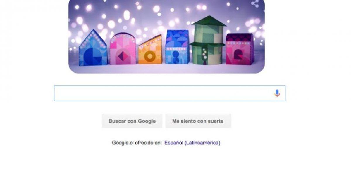 Con este navideño doodle Google nos desea unas