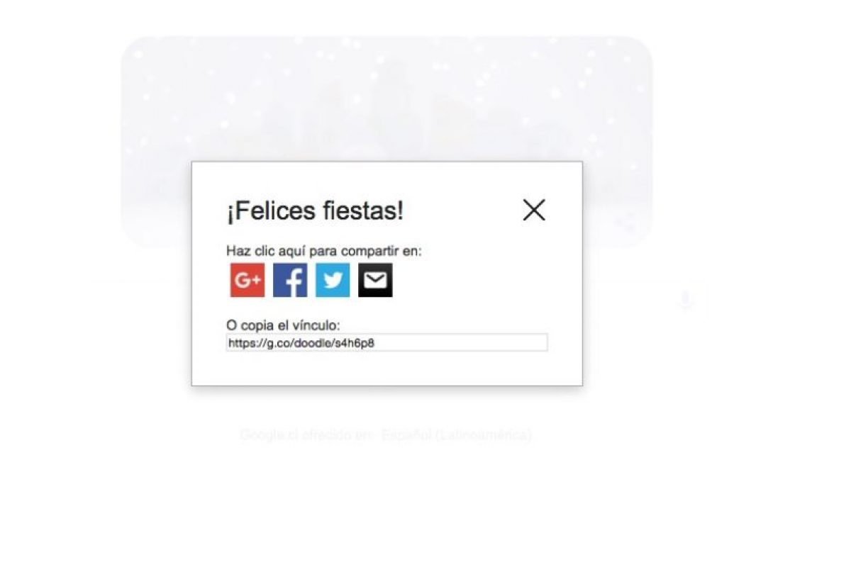 Esta es la pantalla que nos permite compartir el doodle Foto:Reproducción / Google.cl. Imagen Por: