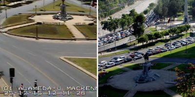 "Santiaguinos ""desaparecen"": Plaza Italia está"