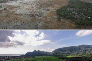 Imágenes captadas en Bahía de Aceh, en Indonesia Foto: Getty Images. Imagen Por: