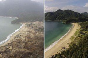 Así cambiaron los lugares destruidos por el Tsunami en el Océano Índico en 2004 Foto:Getty Images. Imagen Por:
