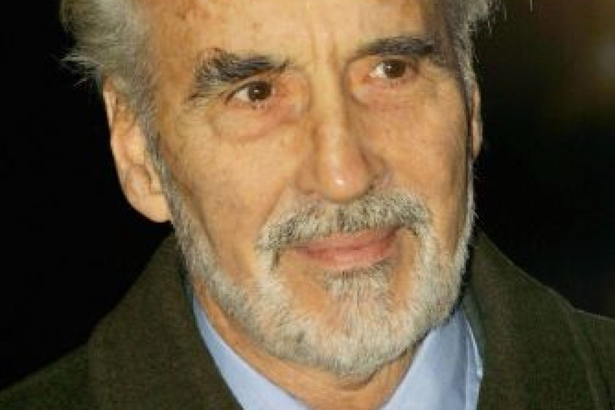 3. Christopher Lee Foto: Getty Images. Imagen Por: