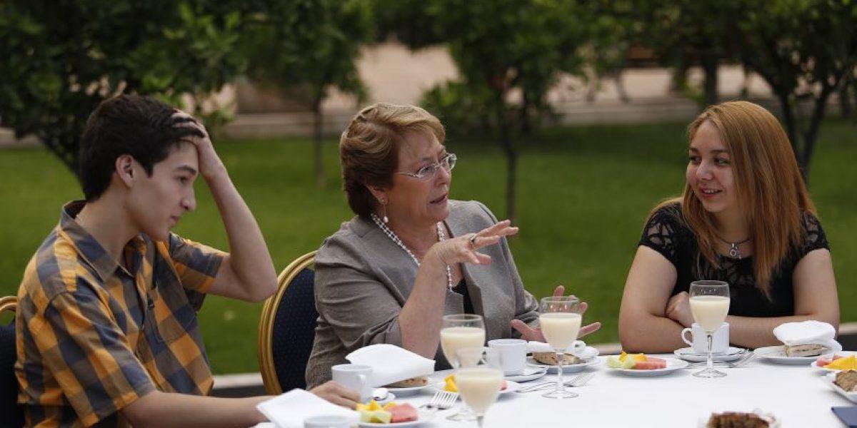 Bachelet habló de gratuidad en educación superior con los puntajes nacionales PSU