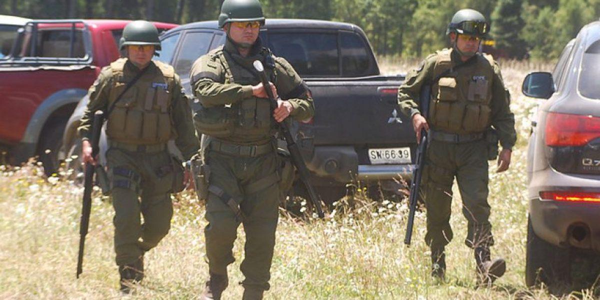 Ataque armado en La Araucanía deja herido a carabinero