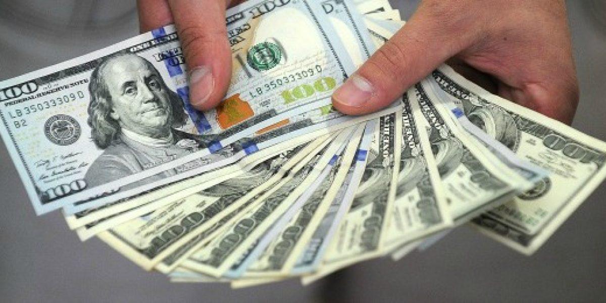 Dólar cierra este lunes con subida de $7